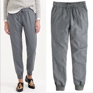 J. Crew Wool Striped Sweatpants Career Joggers